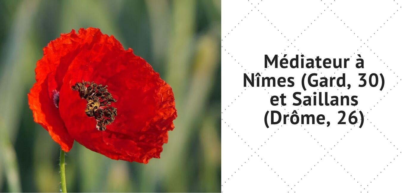 Marc Juston médiateur à Nimes (Gard, 30) et Saillans (Drôme, 26)